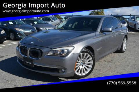 2012 BMW 7 Series for sale at Georgia Import Auto in Alpharetta GA