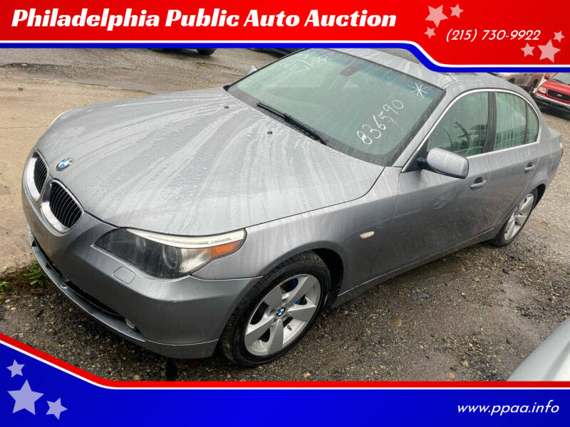 2007 BMW 5 Series for sale at Philadelphia Public Auto Auction in Philadelphia PA