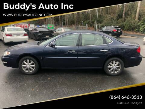2007 Buick LaCrosse for sale at Buddy's Auto Inc in Pendleton SC