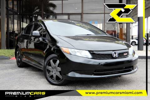 2012 Honda Civic for sale at Premium Cars of Miami in Miami FL