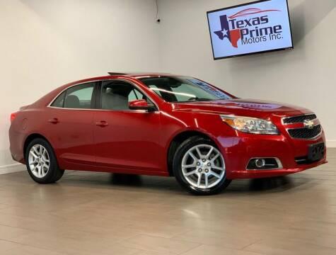 2013 Chevrolet Malibu for sale at Texas Prime Motors in Houston TX