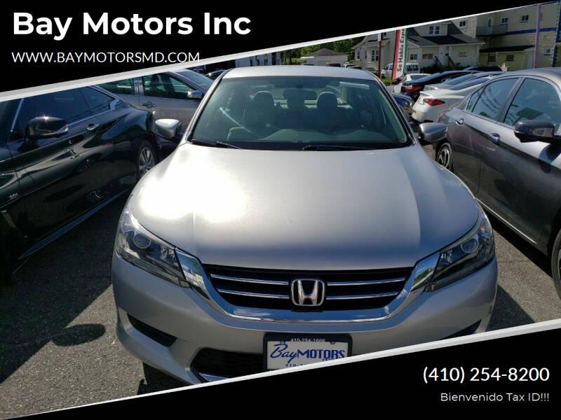 2015 Honda Accord for sale at Bay Motors Inc in Baltimore MD