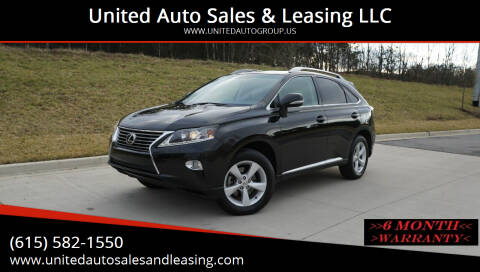 2013 Lexus RX 350 for sale at United Auto Sales & Leasing LLC in La Vergne TN