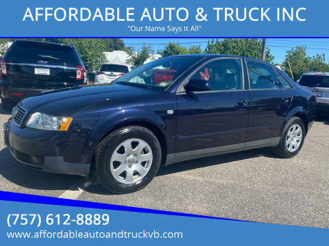 2003 Audi A4 for sale at AFFORDABLE AUTO & TRUCK INC in Virginia Beach VA