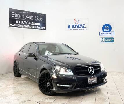 2012 Mercedes-Benz C-Class for sale at Elegant Auto Sales in Rancho Cordova CA