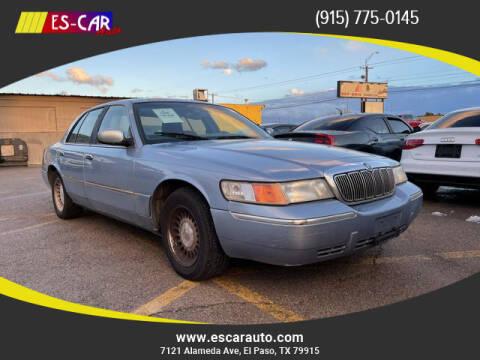 1998 Mercury Grand Marquis for sale at Escar Auto in El Paso TX