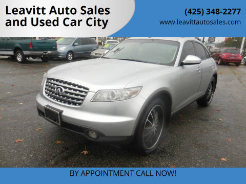 2003 Infiniti FX45 for sale at Leavitt Auto Sales and Used Car City in Everett WA