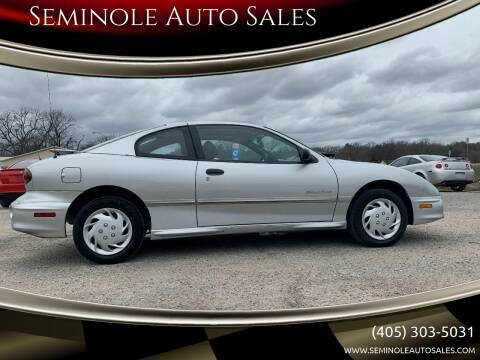 2002 Pontiac Sunfire for sale at Seminole Auto Sales in Seminole OK