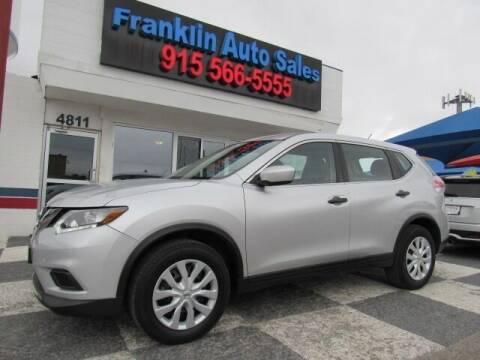 2016 Nissan Rogue for sale at Franklin Auto Sales in El Paso TX