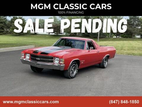 1971 Chevrolet El Camino for sale at MGM CLASSIC CARS in Addison IL