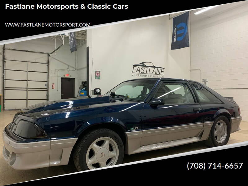 1991 Ford Mustang for sale at Fastlane Motorsports & Classic Cars in Addison IL