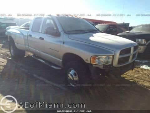 2003 Dodge Ram Pickup 3500 for sale at ELITE MOTOR CARS OF MIAMI in Miami FL