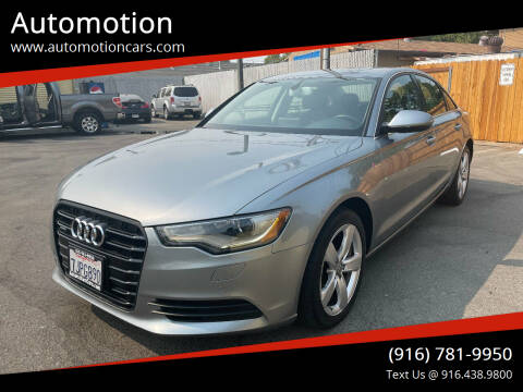 2012 Audi A6 for sale at Automotion in Roseville CA