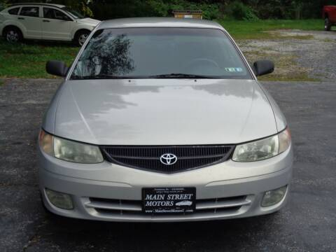 2001 Toyota Camry Solara for sale at MAIN STREET MOTORS in Norristown PA