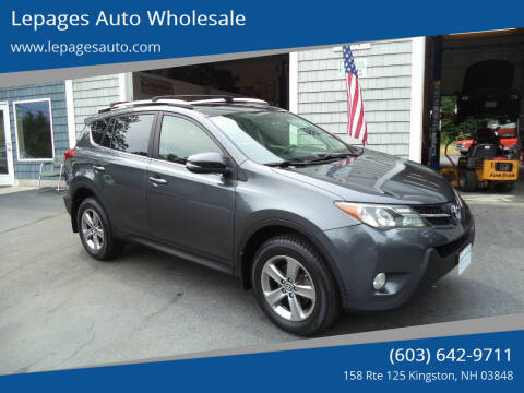 2015 Toyota RAV4 for sale at Lepages Auto Wholesale in Kingston NH