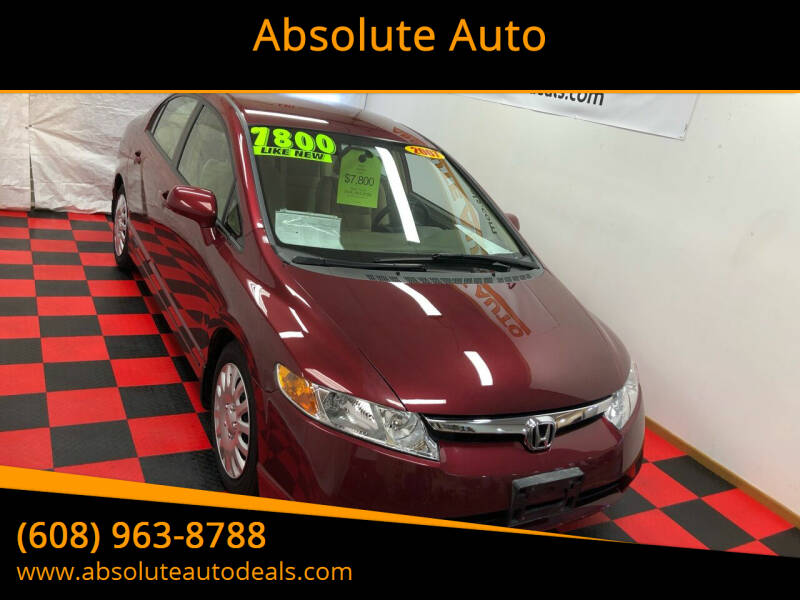 2007 Honda Civic for sale at Absolute Auto in Baraboo WI