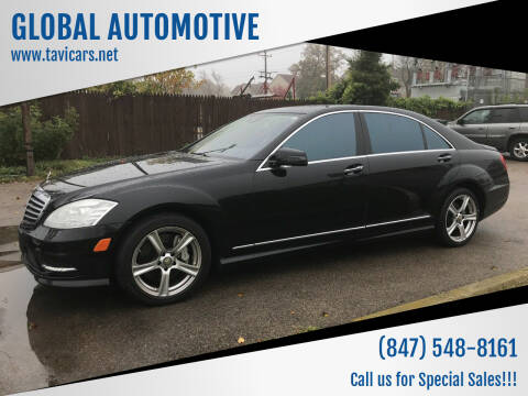 2013 Mercedes-Benz S-Class for sale at GLOBAL AUTOMOTIVE in Gages Lake IL