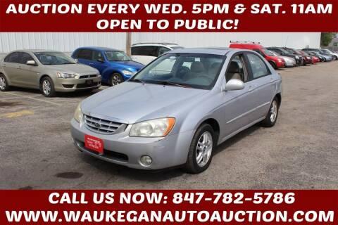 2004 Kia Spectra for sale at Waukegan Auto Auction in Waukegan IL