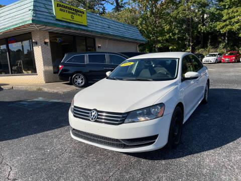 2015 Volkswagen Passat for sale at Diana Rico LLC in Dalton GA