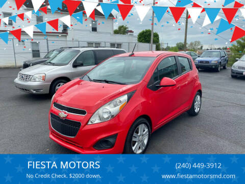 2013 Chevrolet Spark for sale at FIESTA MOTORS in Hagerstown MD