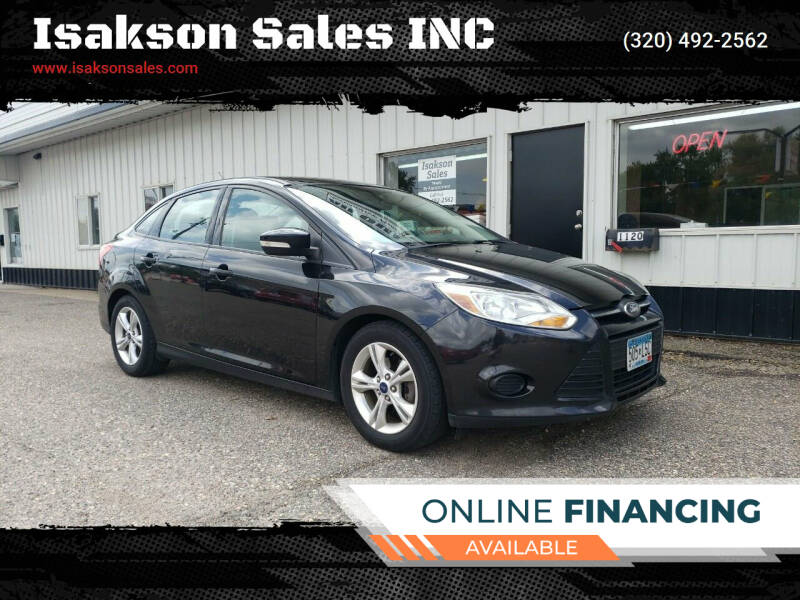 2014 Ford Focus for sale at Isakson Sales INC in Waite Park MN