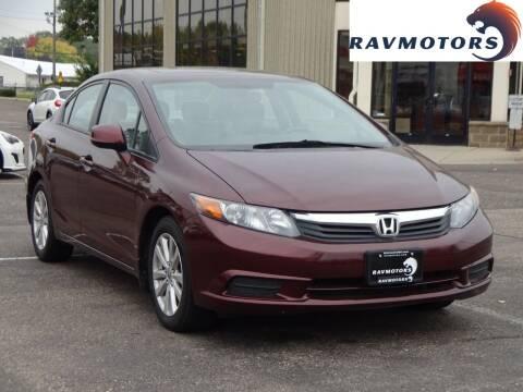 2012 Honda Civic for sale at RAVMOTORS 2 in Crystal MN