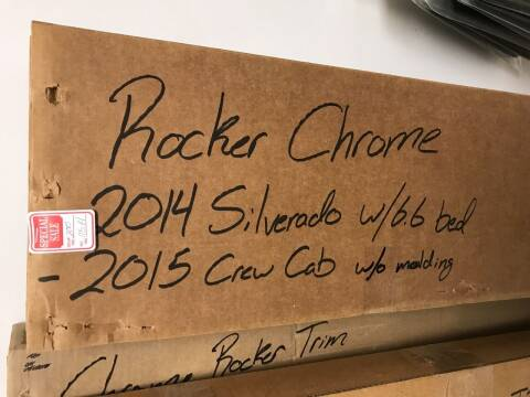 CHROMER ROCKER PANEL TRIM CHEVY for sale at Tyndall Motors - Clearance in Tyndall SD