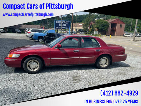 2000 Mercury Grand Marquis for sale at Compact Cars of Pittsburgh in Pittsburgh PA