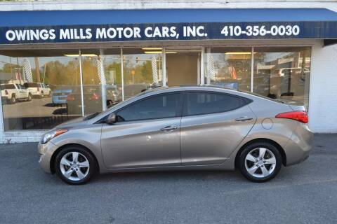 2013 Hyundai Elantra for sale at Owings Mills Motor Cars in Owings Mills MD