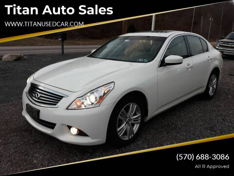 2013 Infiniti G37 Sedan for sale at Titan Auto Sales in Berwick PA