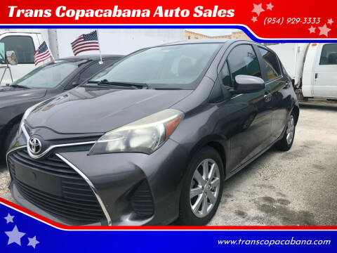 2015 Toyota Yaris for sale at Trans Copacabana Auto Sales in Hollywood FL