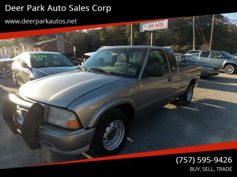 2003 GMC Sonoma for sale at Deer Park Auto Sales Corp in Newport News VA