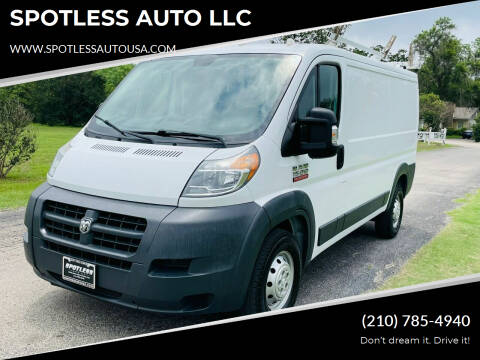 2015 RAM ProMaster Cargo for sale at SPOTLESS AUTO LLC in San Antonio TX