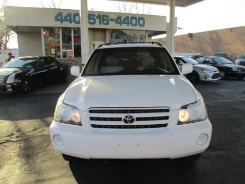 2003 Toyota Highlander for sale at Elite Auto Sales in Willowick OH