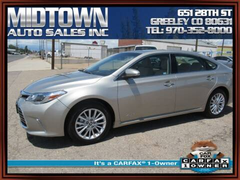 2018 Toyota Avalon Hybrid for sale at MIDTOWN AUTO SALES INC in Greeley CO