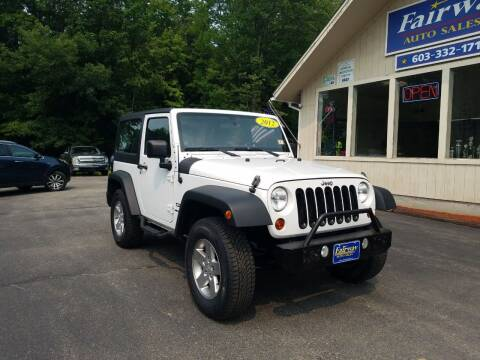 2012 Jeep Wrangler for sale at Fairway Auto Sales in Rochester NH