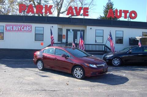 2012 Honda Civic for sale at Park Ave Auto Inc. in Worcester MA