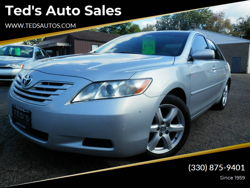 2007 Toyota Camry for sale at Ted's Auto Sales in Louisville OH