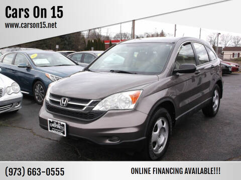 2010 Honda CR-V for sale at Cars On 15 in Lake Hopatcong NJ