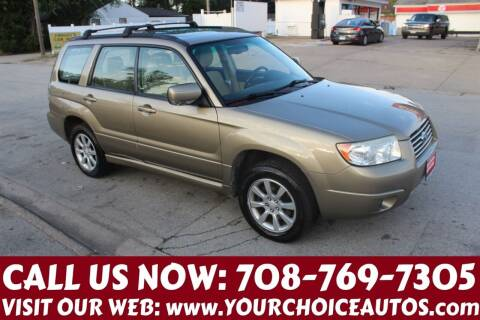 2008 Subaru Forester for sale at Your Choice Autos in Posen IL