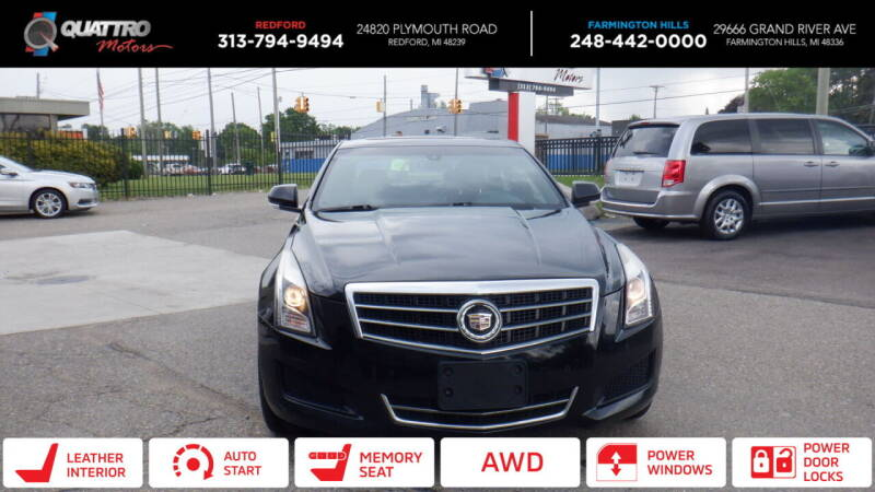 2014 Cadillac ATS for sale at Quattro Motors 2 - 1 in Redford MI