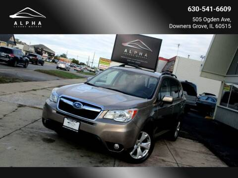 2015 Subaru Forester for sale at Alpha Luxury Motors in Downers Grove IL
