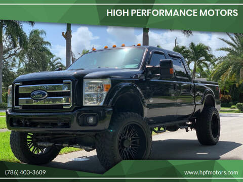 2011 Ford F-350 Super Duty for sale at HIGH PERFORMANCE MOTORS in Hollywood FL