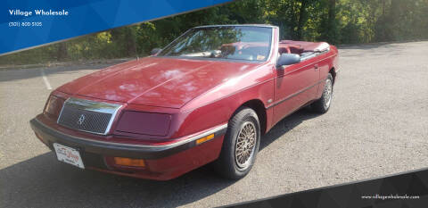 1991 Chrysler Le Baron for sale at Village Wholesale in Hot Springs Village AR