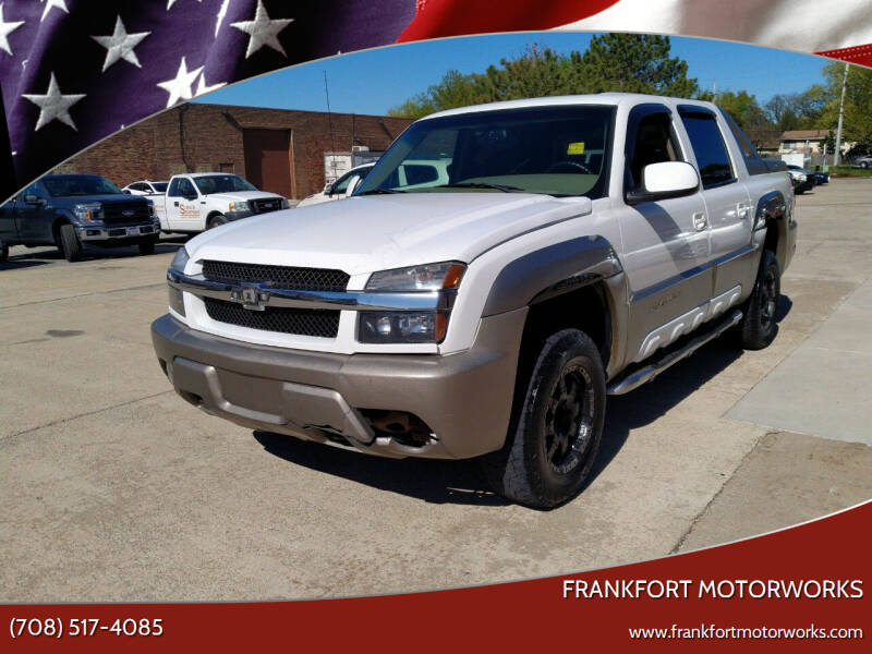 2002 Chevrolet Avalanche for sale at Frankfort Motorworks in Frankfort IL