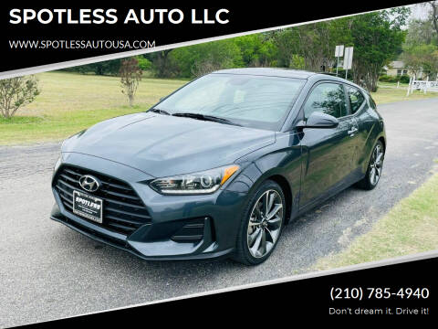 2019 Hyundai Veloster for sale at SPOTLESS AUTO LLC in San Antonio TX