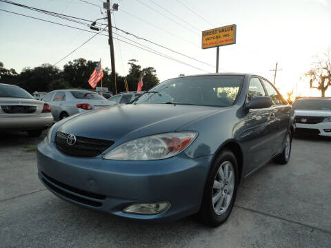 2003 Toyota Camry for sale at GREAT VALUE MOTORS in Jacksonville FL