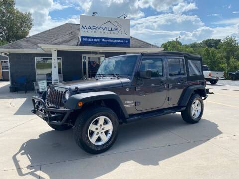 2016 Jeep Wrangler Unlimited for sale at Maryville Auto Sales in Maryville TN