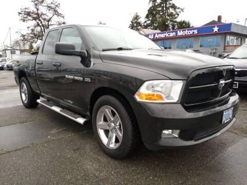 2012 RAM Ram Pickup 1500 for sale at All American Motors in Tacoma WA
