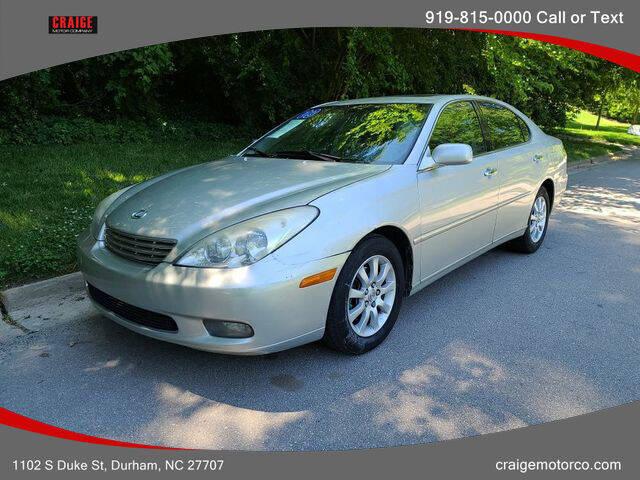 2003 Lexus ES 300 for sale at CRAIGE MOTOR CO in Durham NC